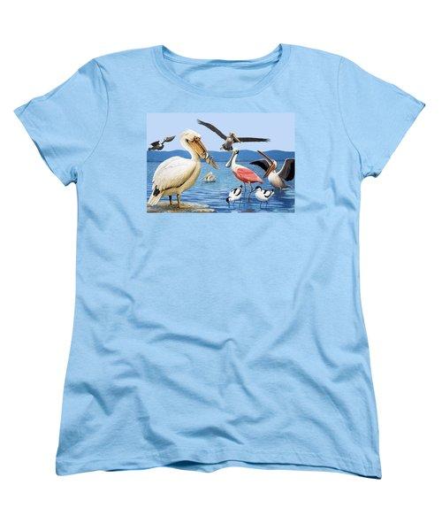 Birds With Strange Beaks Women's T-Shirt (Standard Cut) by R B Davis