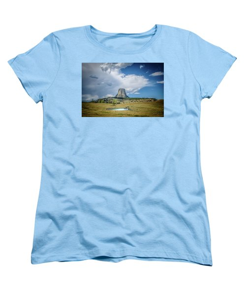 Bison Pond Women's T-Shirt (Standard Cut) by Mark Dunton