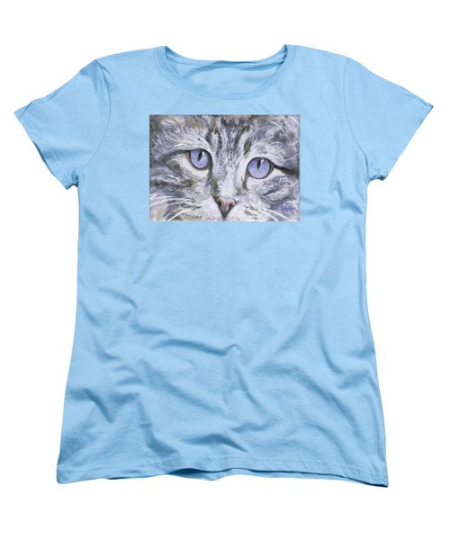 Women's T-Shirt (Standard Cut) featuring the painting Bisous by Mary-Lee Sanders