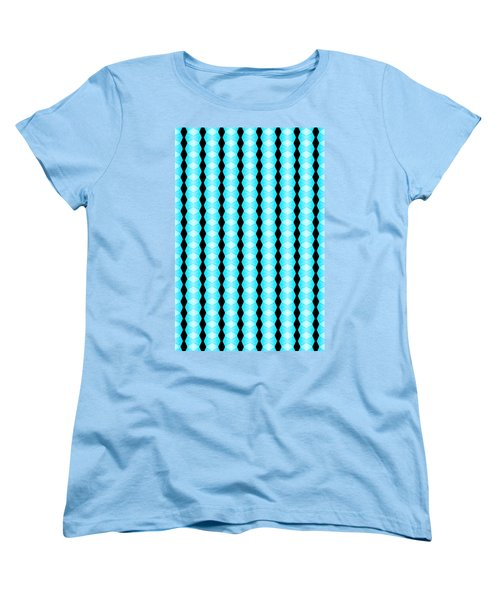 Black And Blue Diamonds Women's T-Shirt (Standard Cut) by Bob Wall