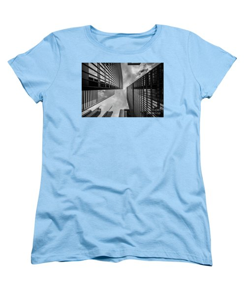 Women's T-Shirt (Standard Cut) featuring the photograph Black And White Skyscraper by MGL Meiklejohn Graphics Licensing
