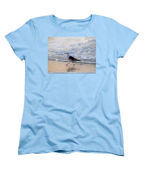 Women's T-Shirt (Standard Cut) featuring the photograph Black-backed Gull by  Newwwman