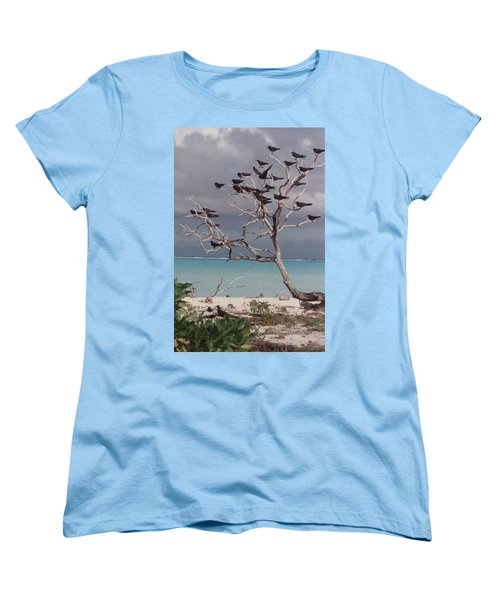 Women's T-Shirt (Standard Cut) featuring the photograph Black Birds by Mary-Lee Sanders