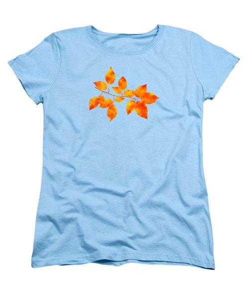 Black Cherry Pressed Leaf Art Women's T-Shirt (Standard Fit)