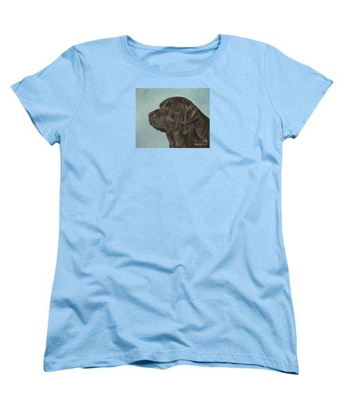 Black Labrador Dog Profile Painting Women's T-Shirt (Standard Cut)