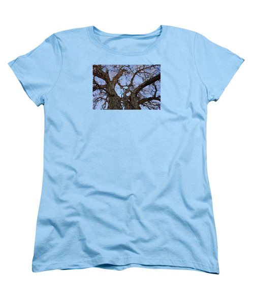 Women's T-Shirt (Standard Cut) featuring the painting Black Oaks by Mark Greenberg