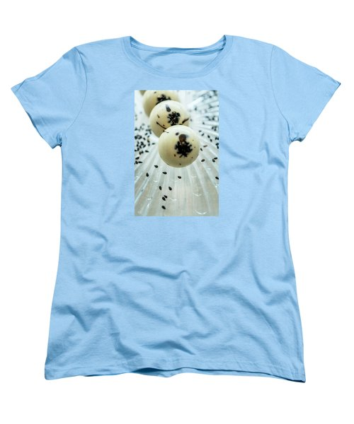 Women's T-Shirt (Standard Cut) featuring the photograph Black Sesame Chocolate by Sabine Edrissi