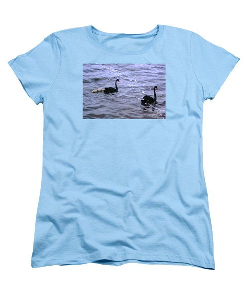 Black Swan Family Women's T-Shirt (Standard Cut) by Cassandra Buckley