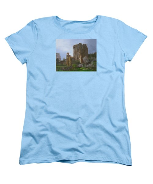 Women's T-Shirt (Standard Cut) featuring the painting Blarney Castle by LaVonne Hand