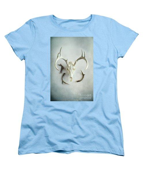 Bleached Stag Skull Women's T-Shirt (Standard Cut)