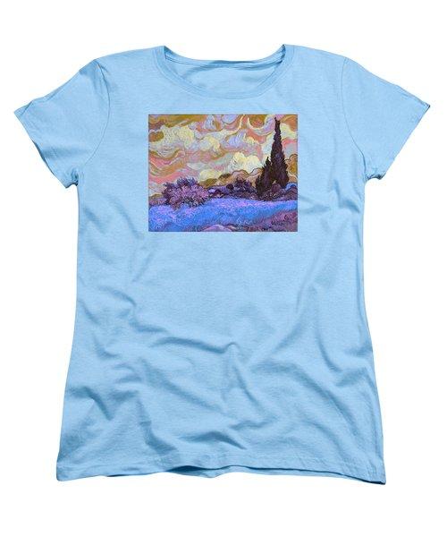 Blend 20 Van Gogh Women's T-Shirt (Standard Cut) by David Bridburg