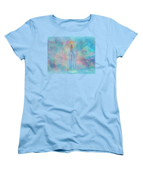 Blessed Mother Of Jesus Women's T-Shirt (Standard Cut) by Sherri's Of Palm Springs