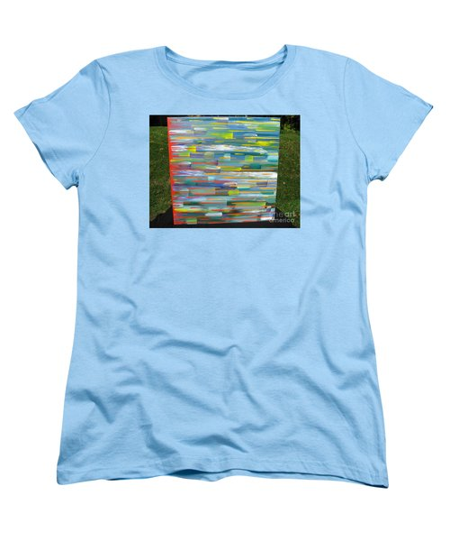 Women's T-Shirt (Standard Cut) featuring the painting Blindsided by Jacqueline Athmann