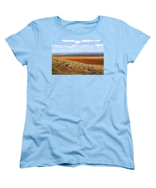 Women's T-Shirt (Standard Cut) featuring the photograph Blooming Season In Antelope Valley by Viktor Savchenko
