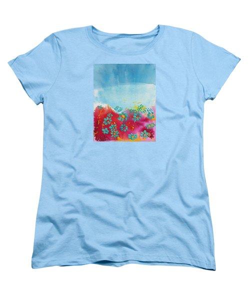 Blooms Women's T-Shirt (Standard Cut) by Shelley Overton