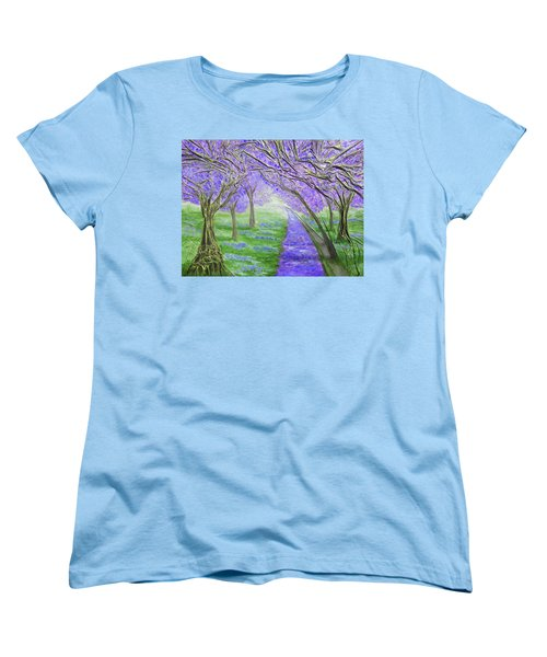 Women's T-Shirt (Standard Cut) featuring the mixed media Blossoms by Angela Stout