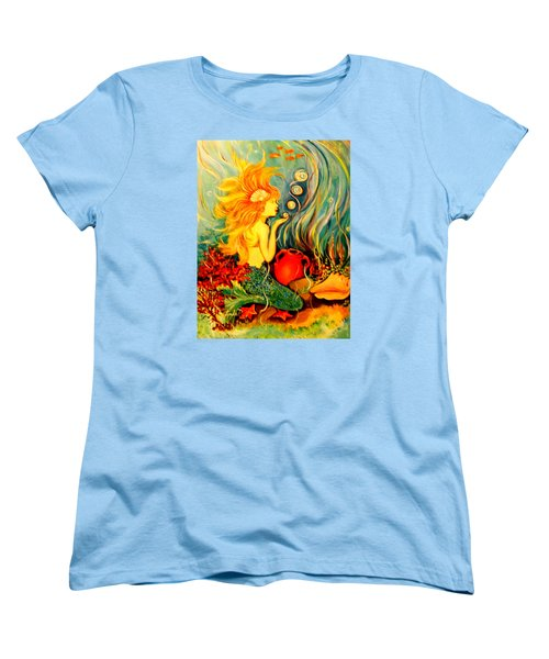 Blowing Bubbles Women's T-Shirt (Standard Cut) by Yolanda Rodriguez