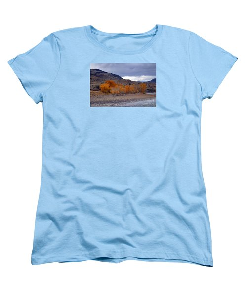 Women's T-Shirt (Standard Cut) featuring the photograph Blue And Yellow  by Irina Hays