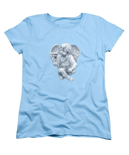 Women's T-Shirt (Standard Cut) featuring the photograph Blue Angel Cutout by Linda Phelps