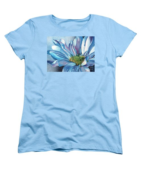 Blue Women's T-Shirt (Standard Cut) by Angela Armano