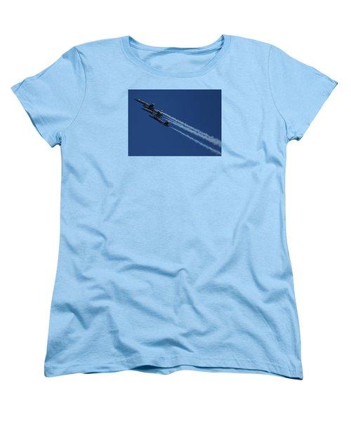 Blue Angels Over San Francisco Bay Women's T-Shirt (Standard Cut)
