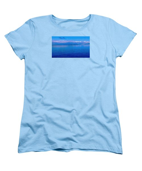 Blue Blue Sea Women's T-Shirt (Standard Cut) by Vicky Tarcau