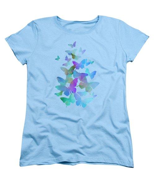 Blue Butterfly Flutter Women's T-Shirt (Standard Fit)