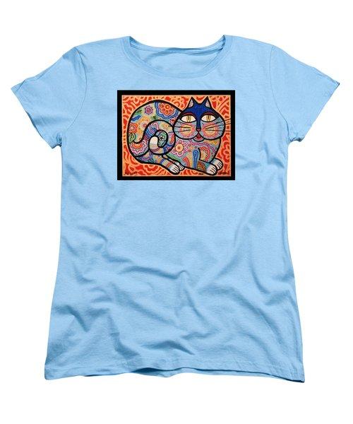 Blue Cat Women's T-Shirt (Standard Cut) by Jim Harris