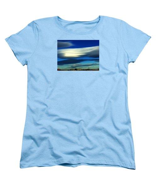 Blue Day Spain  Women's T-Shirt (Standard Cut) by Colette V Hera Guggenheim