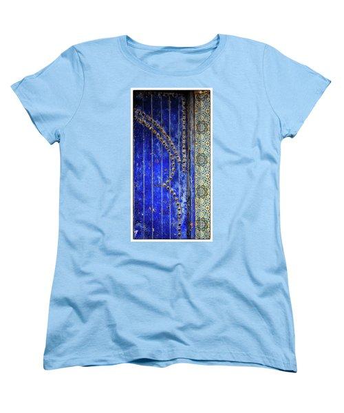 Women's T-Shirt (Standard Cut) featuring the photograph Blue Door In Marrakech by Marion McCristall