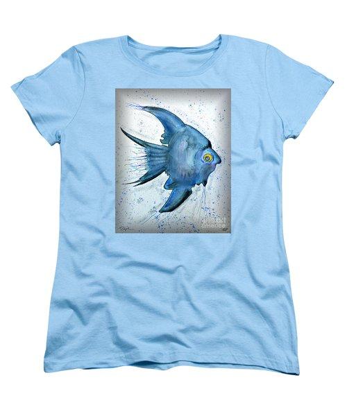 Women's T-Shirt (Standard Cut) featuring the photograph Blue Fish by Walt Foegelle