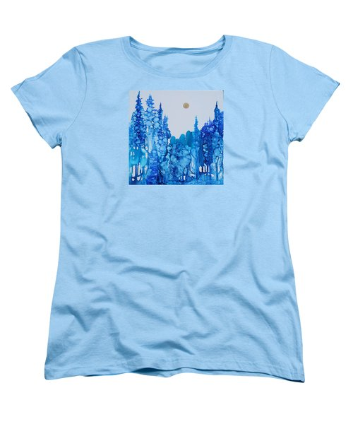 Blue Forest Women's T-Shirt (Standard Cut) by Suzanne Canner