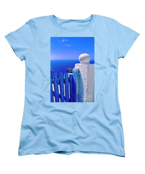 Blue Gate Women's T-Shirt (Standard Cut) by Silvia Ganora