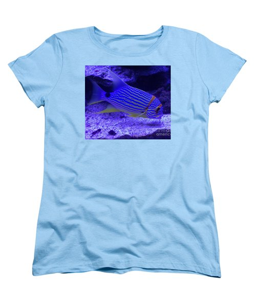 Blue Fish Groupie Women's T-Shirt (Standard Cut) by Richard W Linford