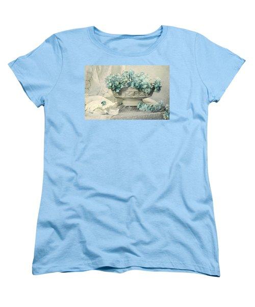 Blue Heart Women's T-Shirt (Standard Cut) by Diana Angstadt