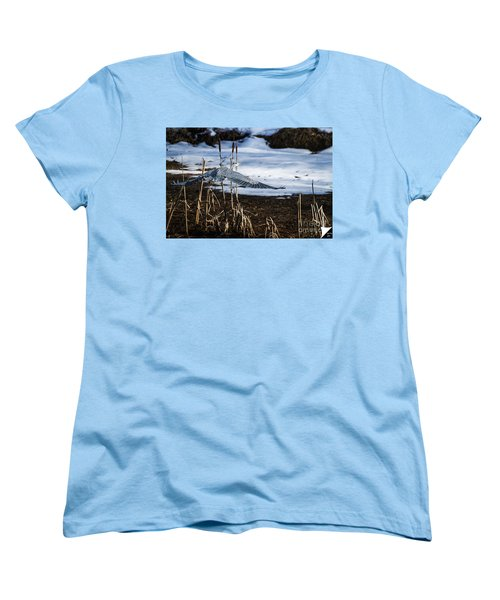 Women's T-Shirt (Standard Cut) featuring the photograph Blue Heron by Jim  Hatch