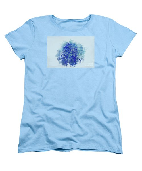 Blue Hortensia Women's T-Shirt (Standard Cut) by Eva Lechner