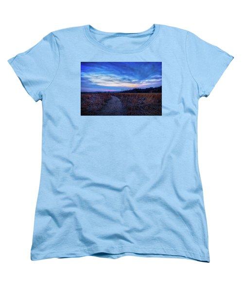 Blue Hour After Sunset At Retzer Nature Center Women's T-Shirt (Standard Cut) by Jennifer Rondinelli Reilly - Fine Art Photography
