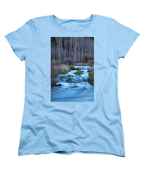 Blue Hour Streaming Women's T-Shirt (Standard Cut) by James BO Insogna