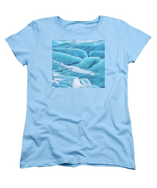 Women's T-Shirt (Standard Cut) featuring the photograph Blue Ice Svinafellsjokull Glacier Iceland by Matthias Hauser