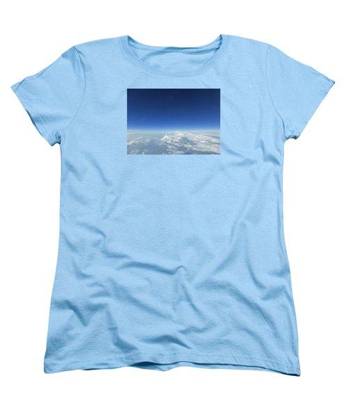 Blue In The Sky Women's T-Shirt (Standard Cut) by AmaS Art