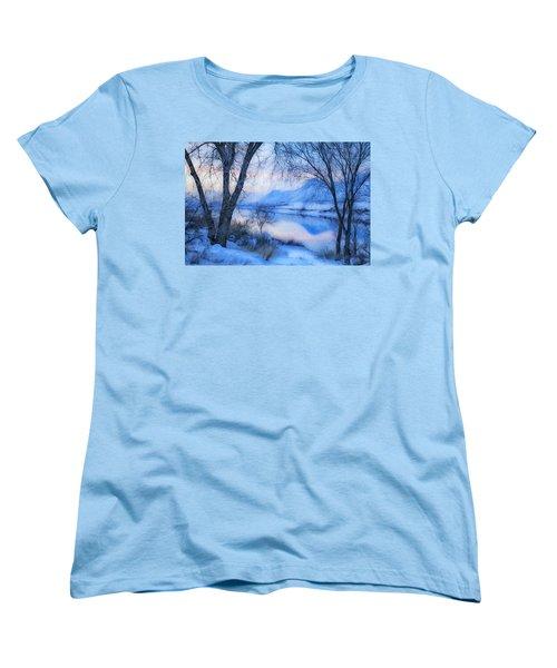 Blue Landscape Women's T-Shirt (Standard Cut) by Theresa Tahara