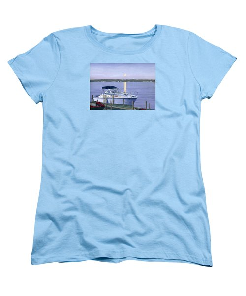 Women's T-Shirt (Standard Cut) featuring the painting Blue Moon by Lynne Reichhart