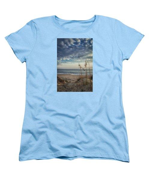 Blue Morning Women's T-Shirt (Standard Cut) by David Cote