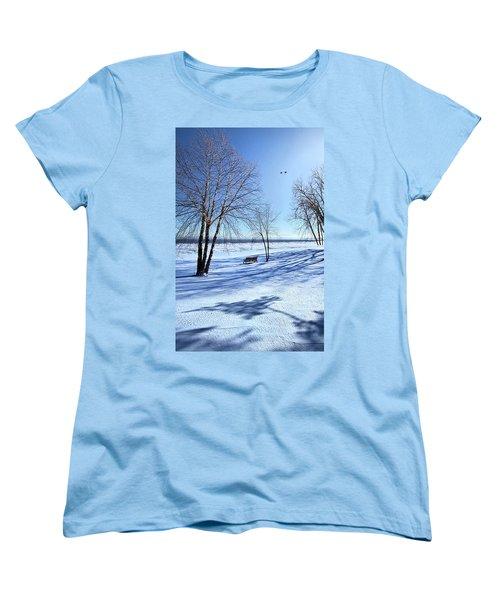 Women's T-Shirt (Standard Cut) featuring the photograph Blue On Blue by Phil Koch