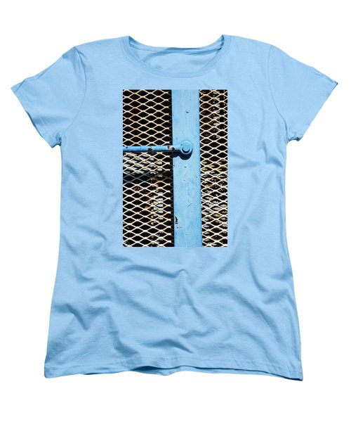 Women's T-Shirt (Standard Cut) featuring the photograph Blue On White by Karol Livote