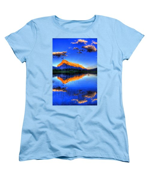 Women's T-Shirt (Standard Cut) featuring the photograph Blue Orange Mountain by Test Testerton