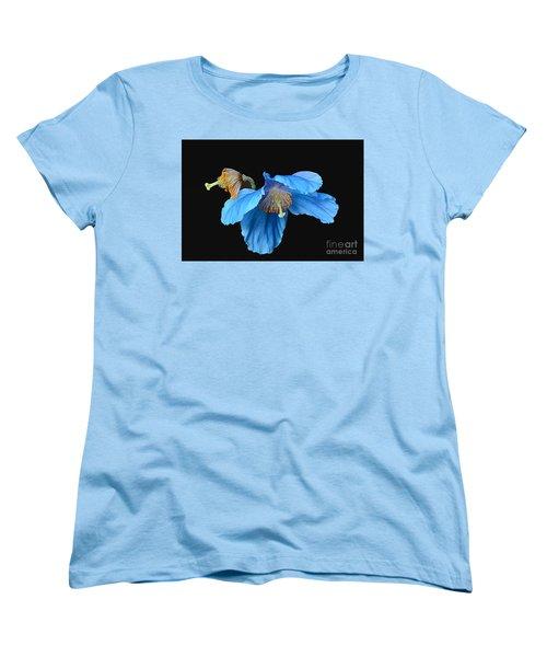 Blue Poppies Women's T-Shirt (Standard Cut) by Cindy Manero