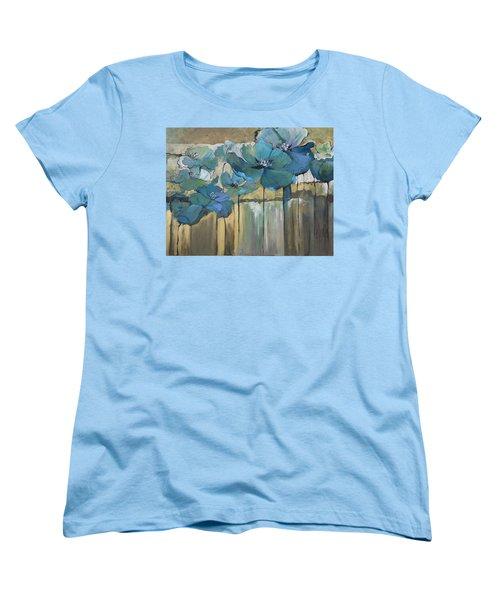 Blue Poppies Women's T-Shirt (Standard Cut)