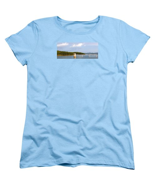 Women's T-Shirt (Standard Cut) featuring the photograph Blue Ridge Dam by Michael Waters